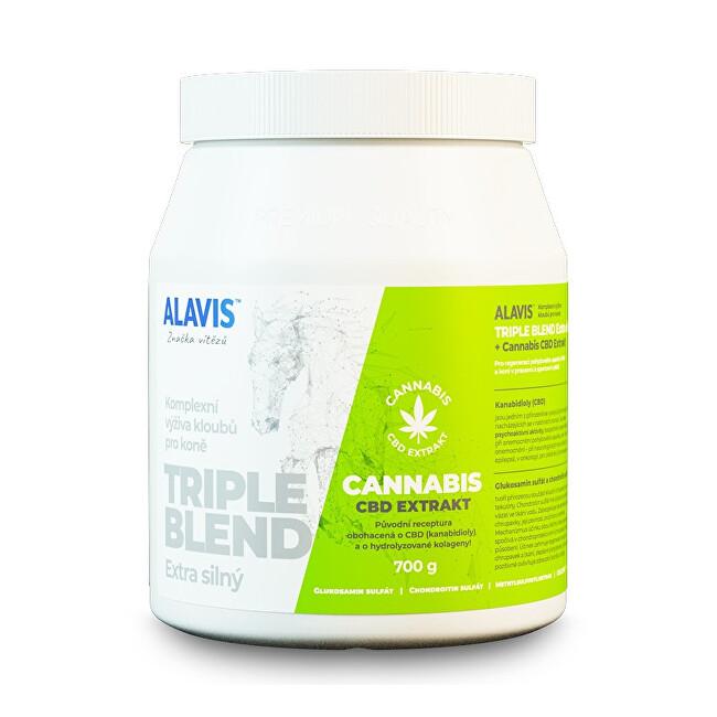 ALAVIS TRIPLE BLEND Extra silný + Cannabis CBD Extrakt 700 g