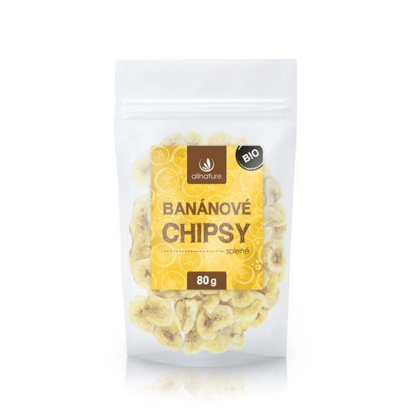 Zobrazit detail výrobku Allnature Banánové chipsy solené BIO 80 g