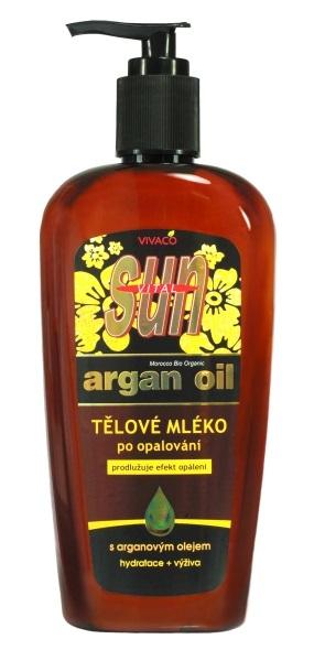 Arganové tělové mléko po opalování 300ml