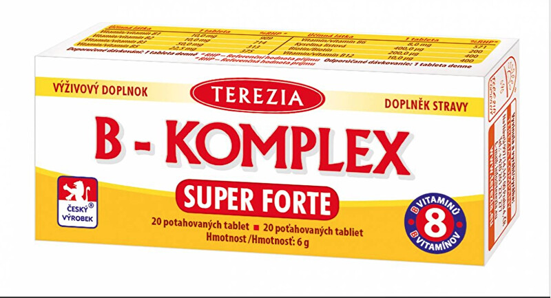 Zobrazit detail výrobku Terezia Company B-komplex Super Forte + 20 tablet