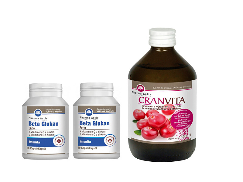 Pharma Activ Beta Glukan Forte 11 60 tablet  Cranvita 500 ml