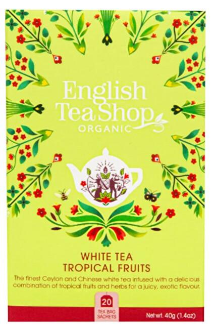 Zobrazit detail výrobku English Tea Shop Bílý čaj s tropickým ovocem BIO 20 sáčků