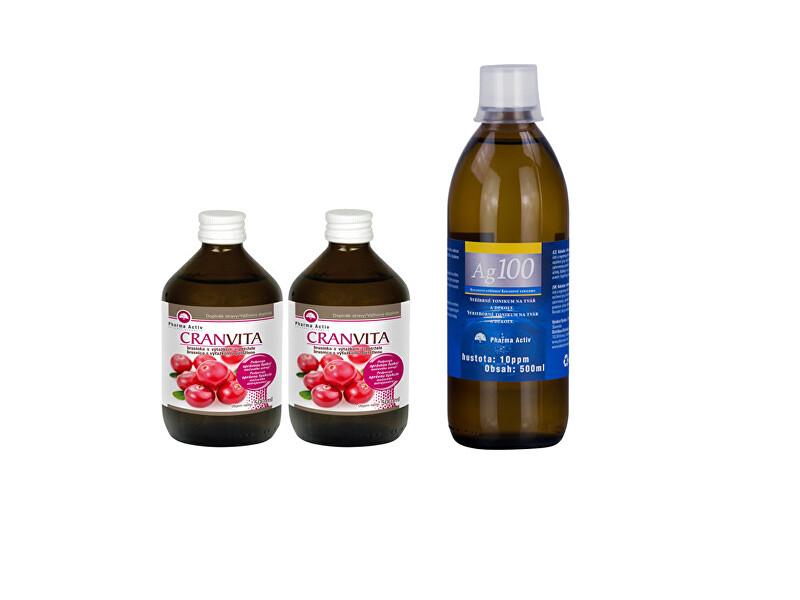 Zobrazit detail výrobku Pharma Activ Czech Cranvita 1+1 500 ml + Ag100 10ppm 500 ml
