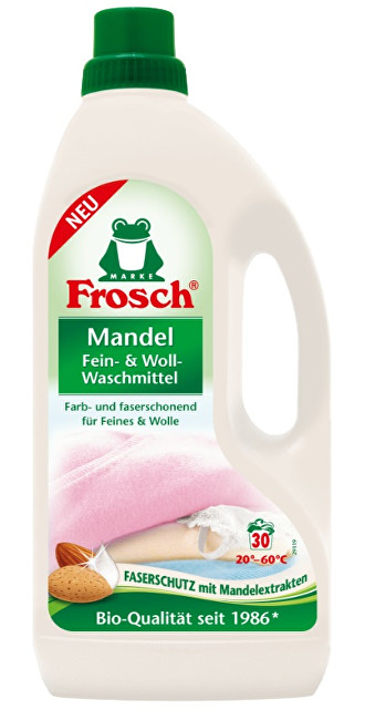 Zobrazit detail výrobku Frosch EKO Prací prostředek na vlnu a jemné prádlo Mandle 1500 ml