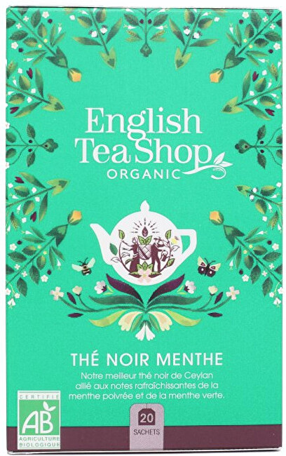 Zobrazit detail výrobku English Tea Shop Černý čaj s mátou BIO 20 sáčků