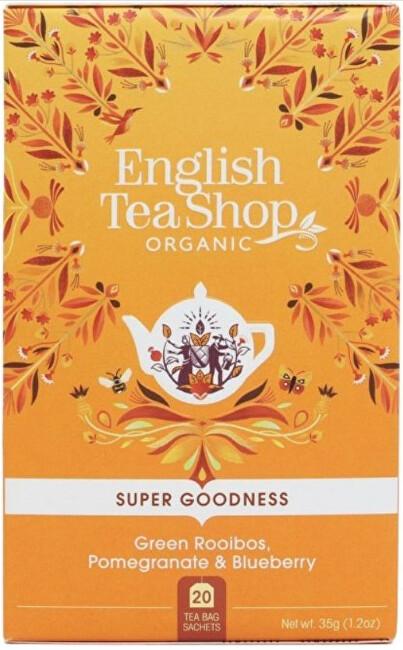Zobrazit detail výrobku English Tea Shop Zelený Rooibos, granátové jablko a borůvka 20 sáčků