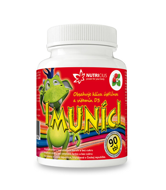 Imuníci – hlíva ústřičná svitamínem D pro děti 90 cucavých tbl.