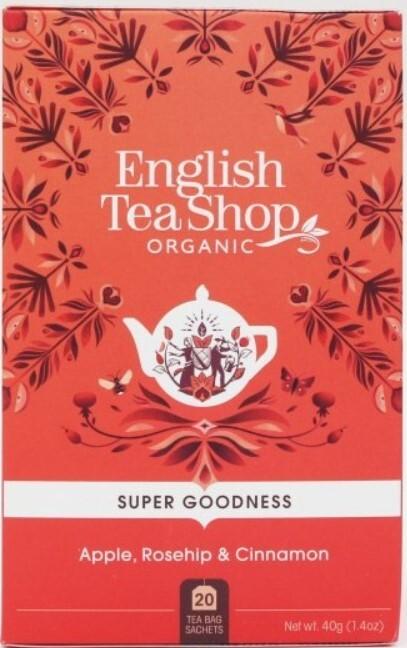 Zobrazit detail výrobku English Tea Shop Jablko, šípek a skořice BIO 20 sáčků