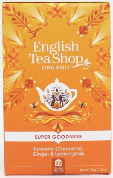 Zobrazit detail výrobku English Tea Shop Kurkuma, zázvor a citronová tráva BIO 20 sáčků