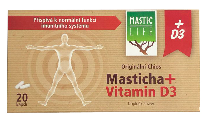 Zobrazit detail výrobku Mastic Life Masticha + vitamín D320 kapslí