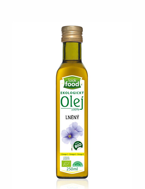 Look food s.r.o Olej lněný 100 percent 250 ml BIO