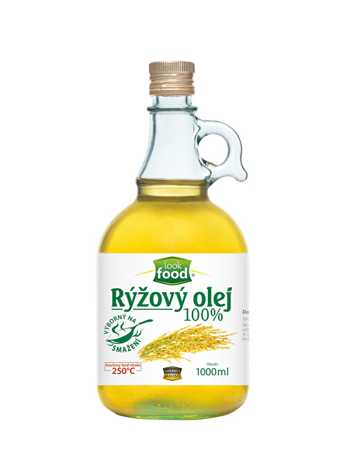 Look food s.r.o Olej rýžový 100% karafa 1000 ml