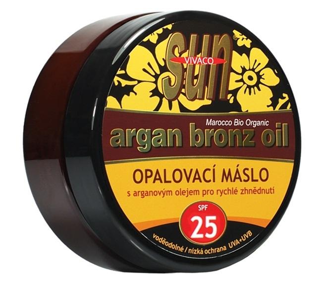 Opalovací máslo Argan oil OF 25 200 ml