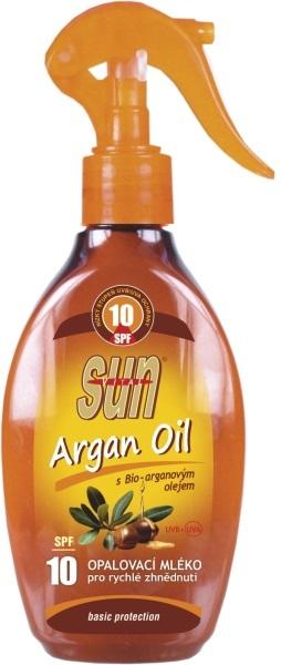 Opalovací mléko s arganovým olejem OF 10 rozprašovací 200 ml