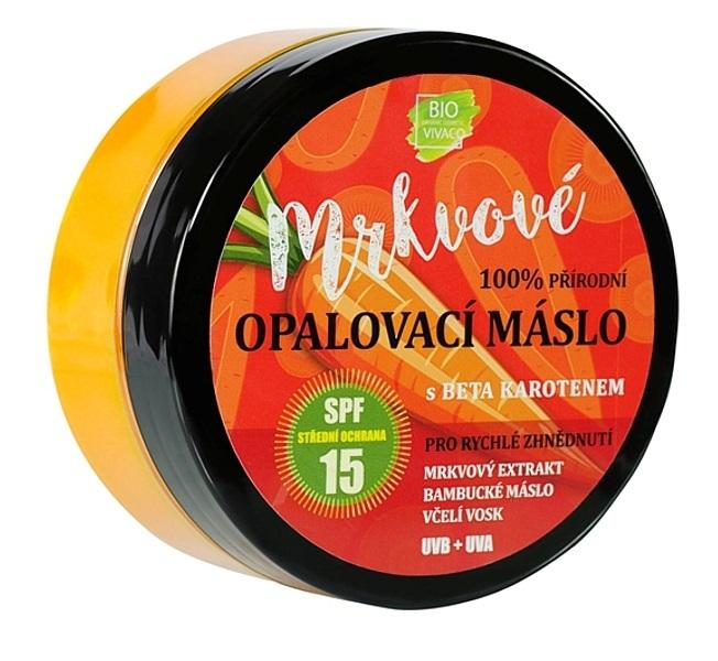 Přírodní opalovací mrkvové máslo OF 15 150 ml