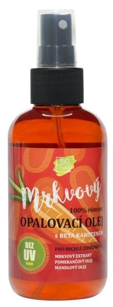Přírodní opalovací mrkvový olej pro rychlé opálení 150 ml