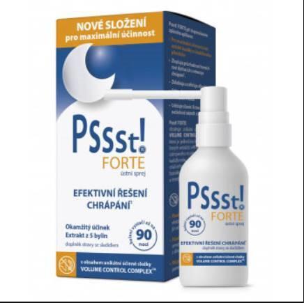 Pssst! FORTE ústní sprej proti chrápání 15 ml + 10 ml ZDARMA