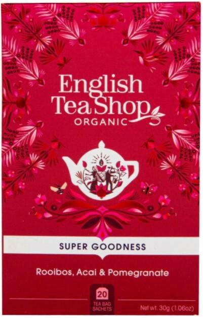 Zobrazit detail výrobku English Tea Shop Rooibos, ovoce acai a granátové jablko BIO 20 sáčků