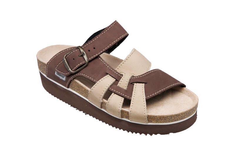Zobrazit detail výrobku SANTÉ Zdravotní pantofle dámské hnědé N/240/9/59/26/H/K 37