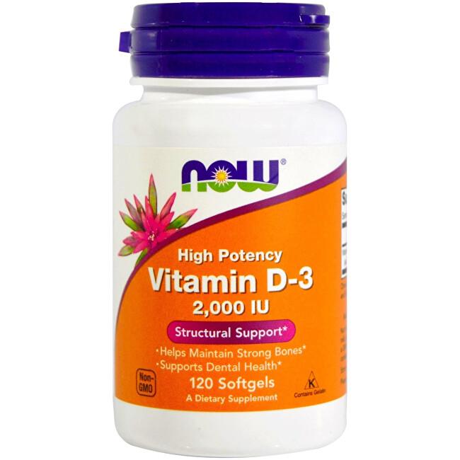 Zobrazit detail výrobku NOW Vitamin D-3 2000iu 120 tobolek