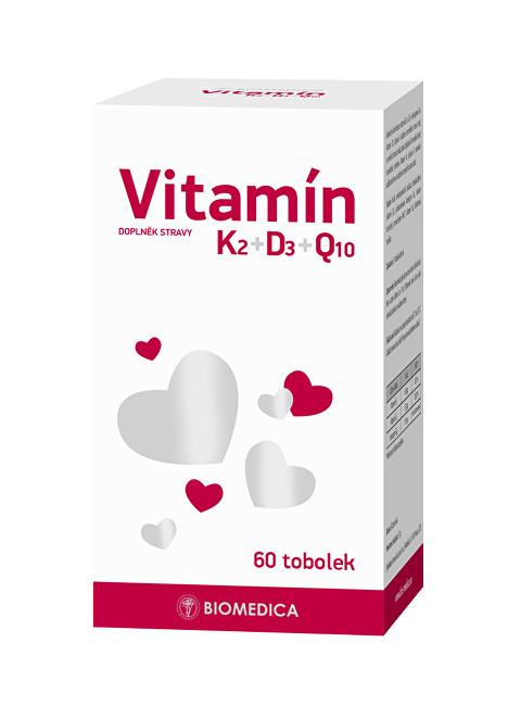 Zobrazit detail výrobku Biomedica Vitamín K2+D3+Q10 60 tablet
