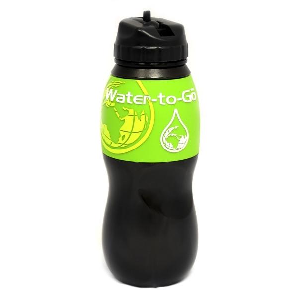 Zobrazit detail výrobku Water-to-GO Water-to-GO lahev 0,75 l  černá se světle zeleným lemem