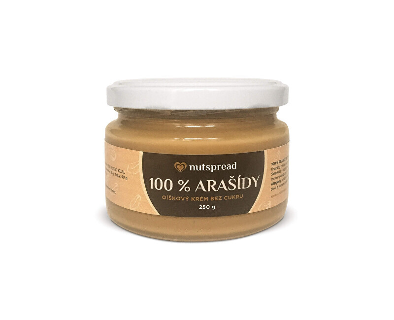 Zobrazit detail výrobku Nutspread 100% Arašídový krém 250 g