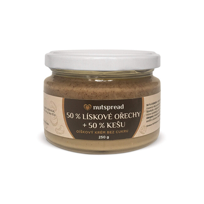 Zobrazit detail výrobku Nutspread 100% Dvoubarevný lískooříškový krém s kešu 250 g