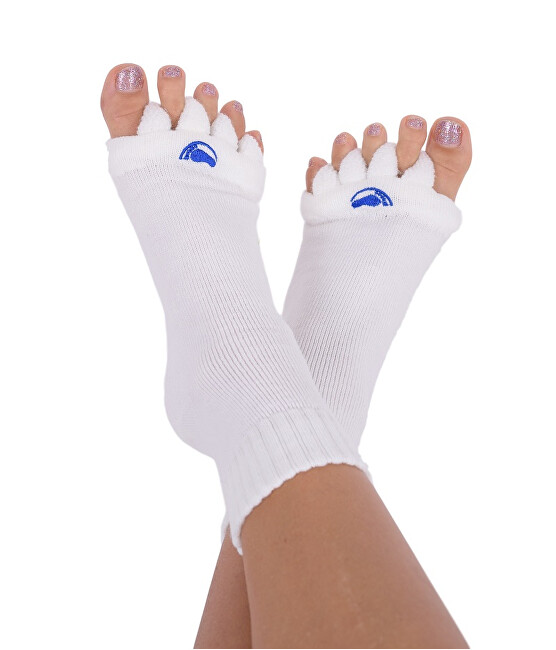 Levně Pro nožky Adjustační ponožky OFF WHITE L