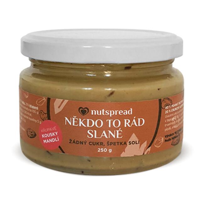 Zobrazit detail výrobku Nutspread Někdo to rád slané - Arašídový krém s kešu, mandlemi a solí 250 g
