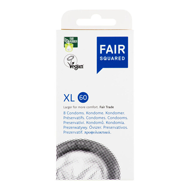FAIR SQUARED Kondom XL 60 - 8 ks