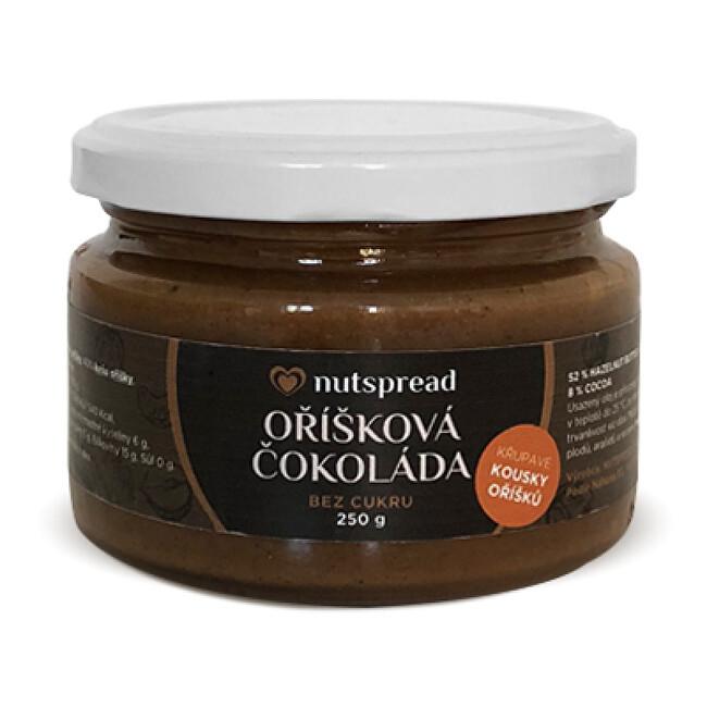 Zobrazit detail výrobku Nutspread Oříšková čokoláda - lískooříškový krém s kešu, kakaem a kousky oříšků Nutspread 1 kg