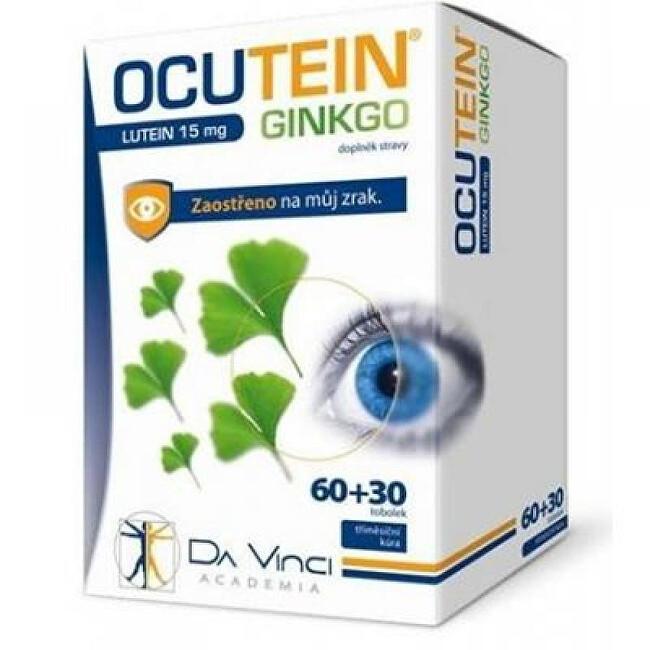 Zobrazit detail výrobku Da Vinci Ocutein Ginkgo Lutein 15 mg 60 tobolek + 30 tablet
