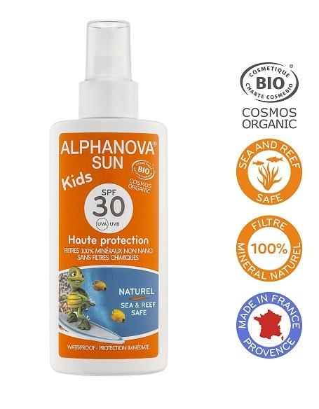 Zobrazit detail výrobku Alphanova Montbrun Opalovací krém ve spreji pro děti SPF 30 BIO 125g