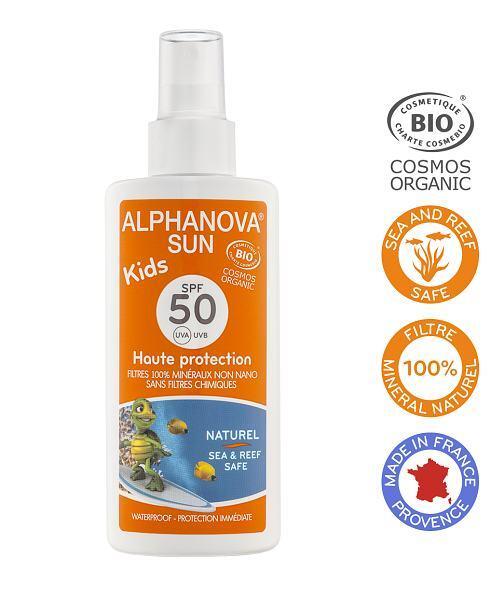 Zobrazit detail výrobku Alphanova Montbrun Opalovací krém ve spreji pro děti SPF 50 BIO 125g
