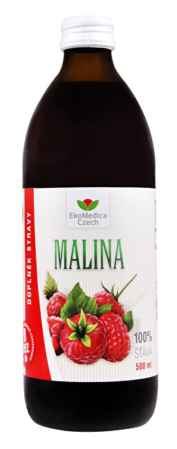 Zobrazit detail výrobku EkoMedica Czech Šťáva Malina 100% 500 ml