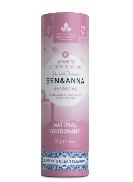 Zobrazit detail výrobku BEN & ANNA Tuhý deodorant Sensitive BIO 60 g - Třešňový květ