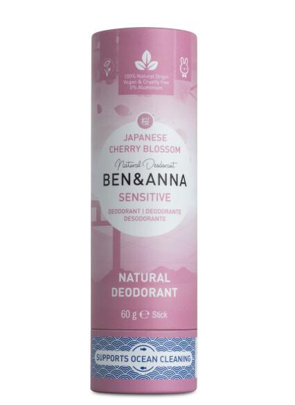 Tuhý deodorant Sensitive BIO 60 g - Třešňový květ