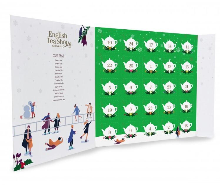 Adventní kalendář Zelený, ETS25 pyramidek, 13 příchutí
