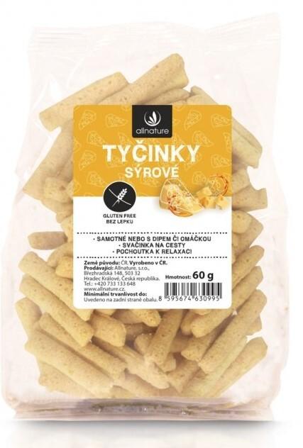Zobrazit detail výrobku Allnature Tyčinky sýrové bezlepkové 60 g