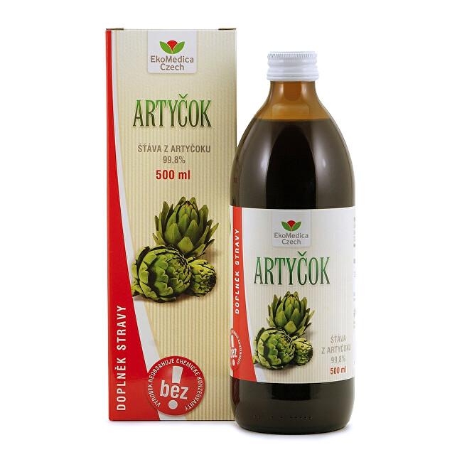 Zobrazit detail výrobku EkoMedica Czech Artyčok – 99,8 % šťáva z artyčoku 500 ml