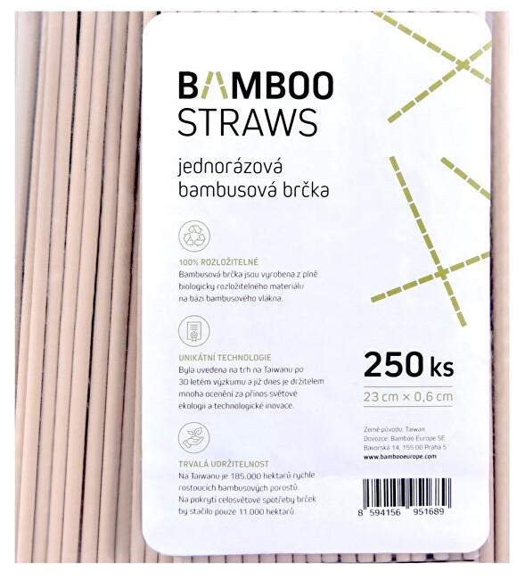 Bambusové brčko 6 mm x 23 mm bag 250 ks
