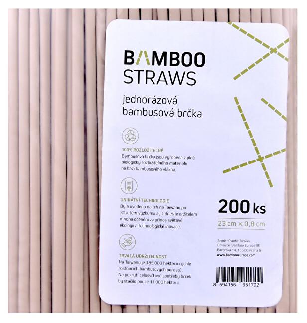 Zobrazit detail výrobku Bamboo Europe Bambusové brčko 8 mm x 23 mm bag 200 ks