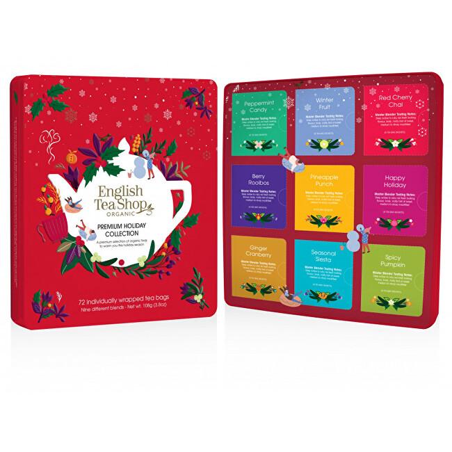Zobrazit detail výrobku English Tea Shop Červená vánoční plechová kazeta 72 nál sáčků