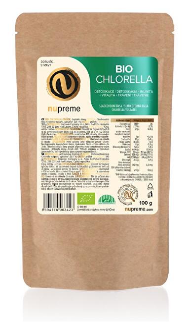 Zobrazit detail výrobku Nupreme Chlorella 100 g prášek BIO