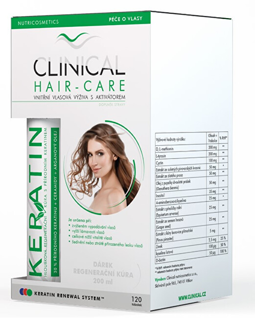 Clinical Clinical Hair-Care 120 tobolek  keratin 100 ml - kúra na 4. měsíce