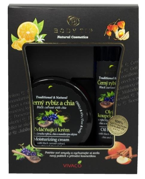 Zobrazit detail výrobku Body tip Dárková kazeta Černý rybíz s chia - Zvláčňující krém 200 ml + Pěna do koupele 200 ml