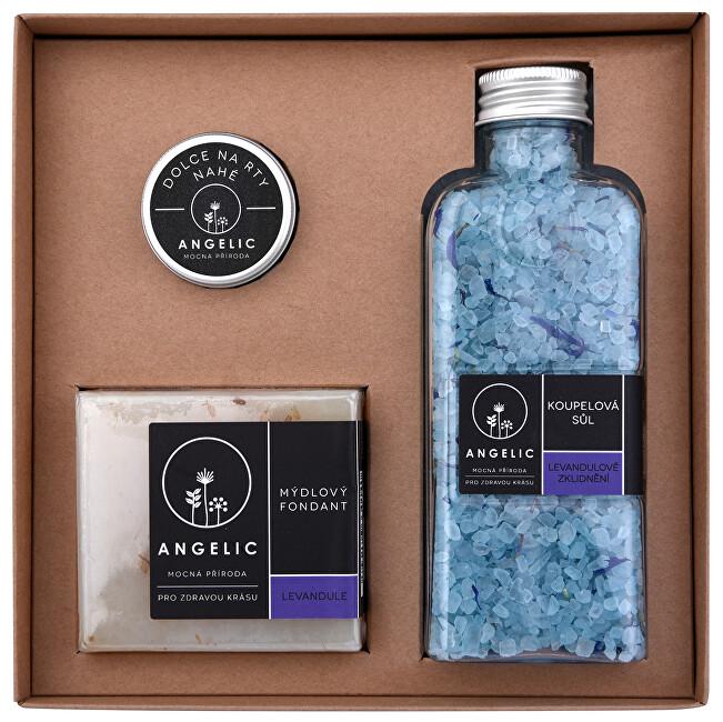 Zobrazit detail výrobku Angelic Dárková krabička Angelic koupelová sůl Levandulové zklidnění