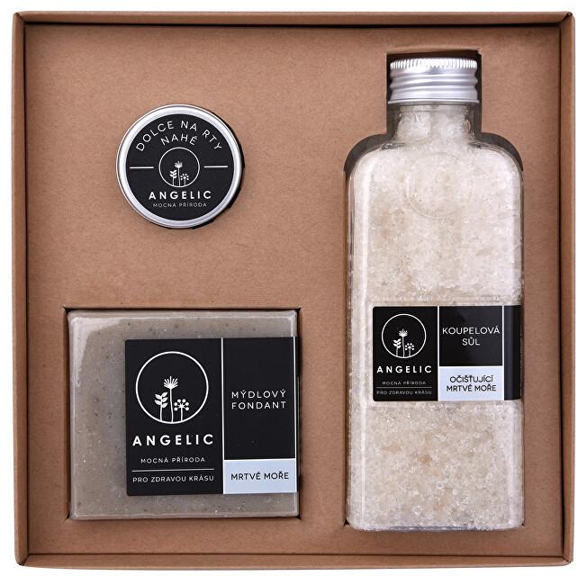 Zobrazit detail výrobku Angelic Dárková krabička Angelic koupelová sůl očišťující Mrtvé moře
