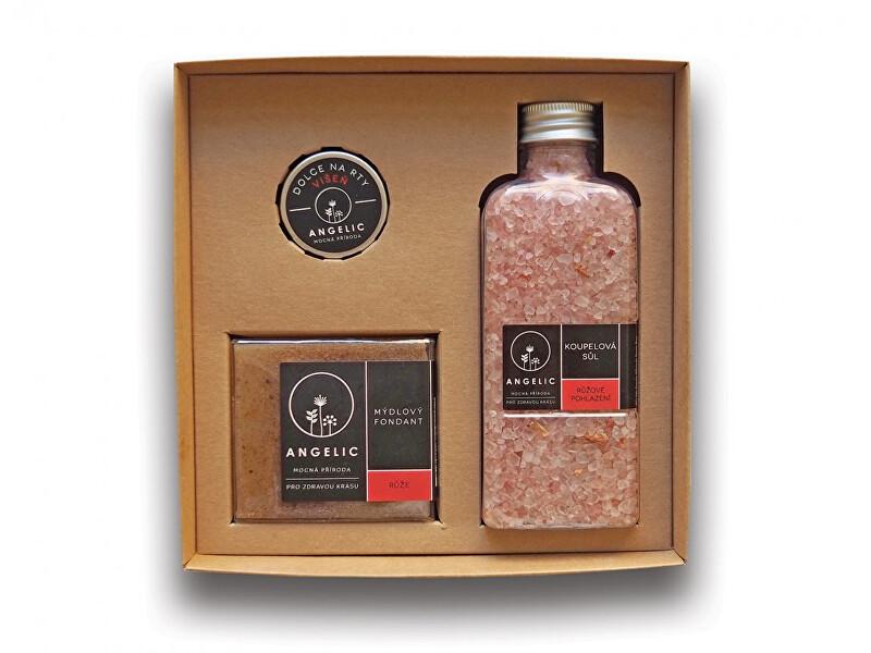 Zobrazit detail výrobku Angelic Dárková krabička Angelic koupelová sůl Růžové pohlazení